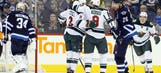 Wild win in Winnipeg behind Coyle, Bryzgalov