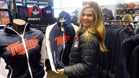 Checking out some of the new Twins gear available at Target Field.