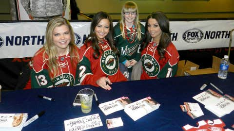 Meet & Greet with fans at Gate 4 of the Xcel Energy Center before the Wild & Avalanche game.