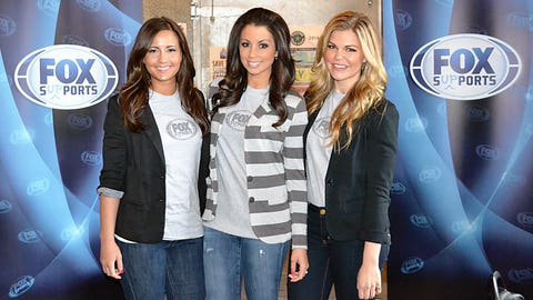 The FOX Sports North Girls arrive at Kids in the City, an event benefiting the Boys & Girls Clubs of the Twin Cities.