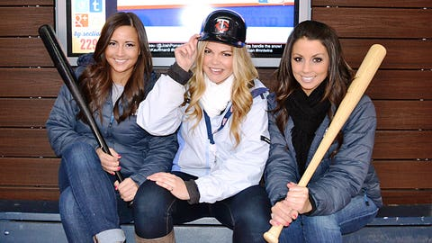 Staying dry in the Twins Digital Clubhouse at Target Field.