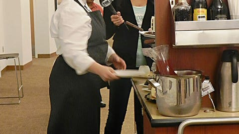 Kaylin has a tough assignment - learning more about the dessert cart that makes its way around the suite level at Target Field.