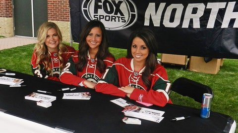 Hanging out at the FOX Sports North tent outside Gate 2 at the Xcel Energy Center.