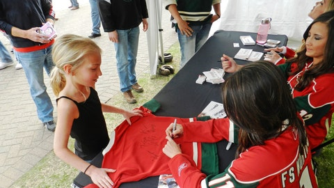 This young Wild fan has quite the collection of autographs on her jersey. We're proud to be among them!