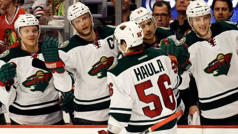 Wild Blackhawks Hockey