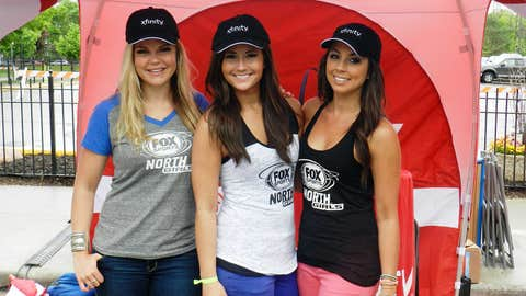 The FOX Sports North Girls spent time at Grand Old Day in Saint Paul at the Sports District presented by Xfinity.