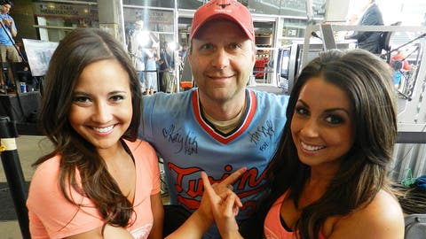 What's better than a free Kirby Puckett throwback jersey? One that's signed by the FOX Sports North Girls, of course!