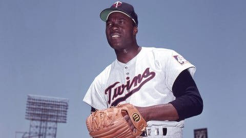 "6/15/1964: Acquired RHP Jim ""Mudcat"" Grant from Cleveland for 3B George Banks and P Lee Strange"