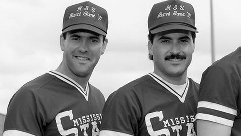 First base: Rafael Palmeiro (Mississippi State, 1985)
