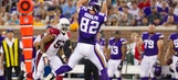 Vikings' slimmed-down Rudolph dances through Arizona's secondary