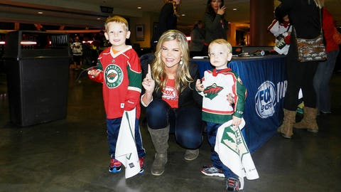 Kendall and these pint-sized Wild fans are so happy to have the team back in action.