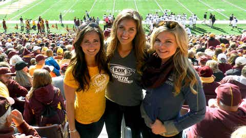 A Great Gopher Comeback had Jennifer, Angie & Kendall all smiling for the rest of the day