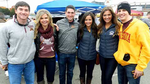 The Gopher Tailgate got started early with lots of fans eager to watch the game against Purdue