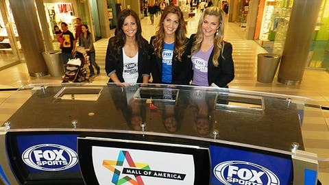 The FOX Sports North Girls had a great time helping with the Wild Live broadcast from MOA!