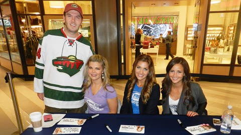 Fans that stopped by took pictures with the FOX Sports North Girls before watching the live broadcast.