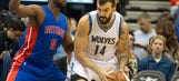 Wolves hold off Pistons for 97-91 win in home opener