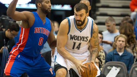 Detroit Pistons at Minnesota Timberwolves: 10/30/14