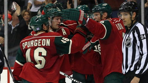 San Jose Sharks at Minnesota Wild: 10/30/14