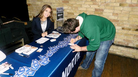 Fans registered to win tickets throughout the night and winners were selected during game breaks.