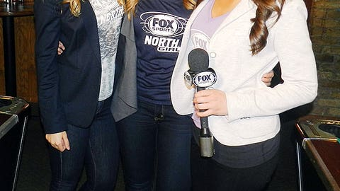 While hosting the HD Viewing Party, Jennifer, Kendall & Angie also filmed hits throughout the Wolves game that aired on FOX Sports North!