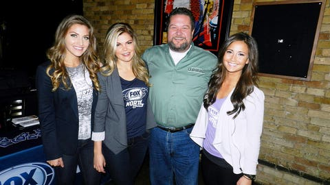 While enjoying the Timberwolves game, fans stopped by to chat and take photos with the FOX Sports North Girls.