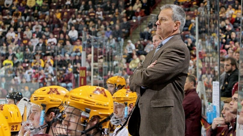 The Gophers men's hockey team (↓ DOWN)
