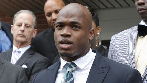 Adrian Peterson plays in just one game for Vikings due to off-field legal troubles