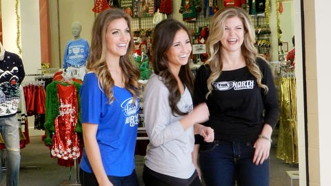 The FOX Sports North Girls stopped by the Ragstock Ugly Holiday Sweater Store at the Mall of America to pick up some new items for the first ever Minnesota Wild Ugly Christmas Sweater Night.