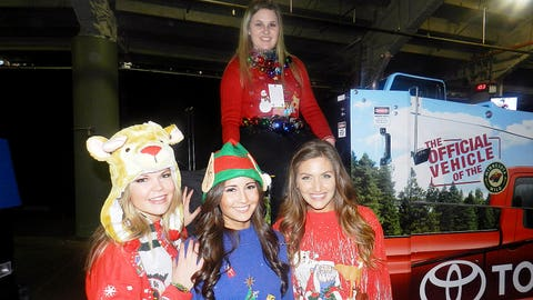 Part of the prize for the FOX Sports North Girls Ugly Sweater Contest Winner was to ride in style on the Wild Zamboni!