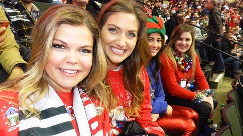The Wild played a hard fought game and everyone had a blast at Ugly Sweater Night!