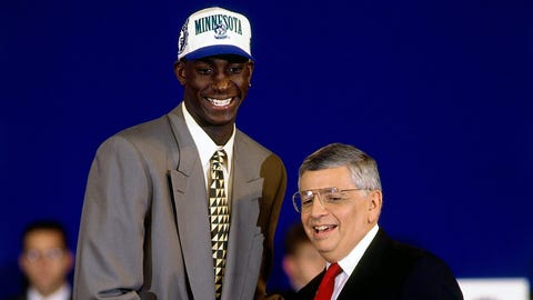 No. 5 overall selection by Wolves in 1995 NBA draft