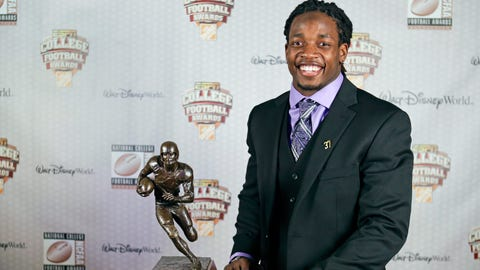 Badgers RB Melvin Gordon wins the Doak Walker Award and finishes second in Heisman Trophy Award voting