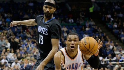 Thunder at Wolves: 12/12/14