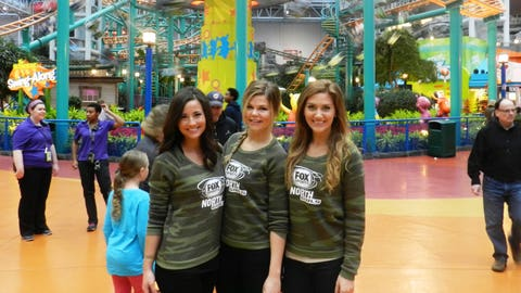 The FOX Sports North Girls spent Sunday morning at Nickelodeon Universe inside the Mall of America for the Holiday for Heroes event.