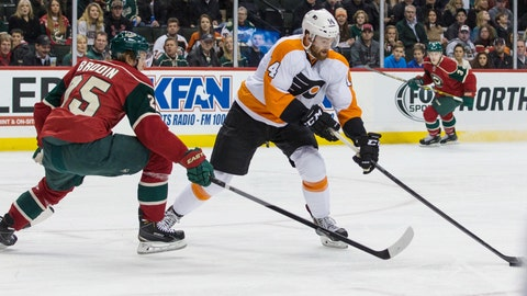 Flyers at Wild: 12/23/14