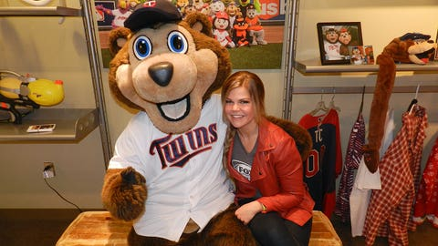 Kendall was able to hang out with one of her favorite mascots when TC Bear stopped by.