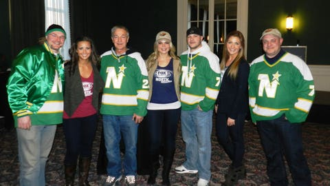 It was Throwback Thursday at Guys Night out with these North Stars jerseys.