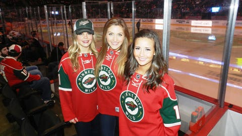 Rooting on the Wild to another win at the Xcel Energy Center.