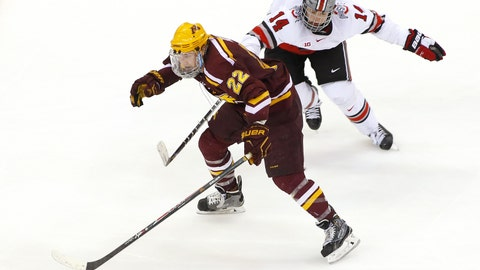 Gophers men's hockey, (↓ DOWN)