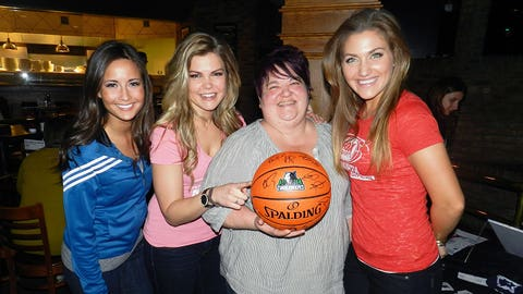 And the winner is.... This lucky fan went home with an autographed basketball!