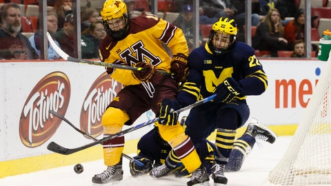 PHOTOS: Gophers 4, Wolverines 2