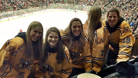 National champion Gophers women's hockey team