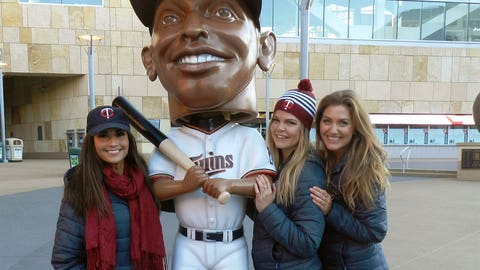 We had to check out the giant Torii Hunter bobblehead on display on the Plaza.