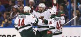 Game 1 Road Reaction: Wild 4, Blues 2