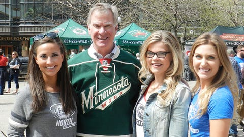 The FOX Sports North Girls work on a winning game plan with Saint Paul mayor Chris Coleman.