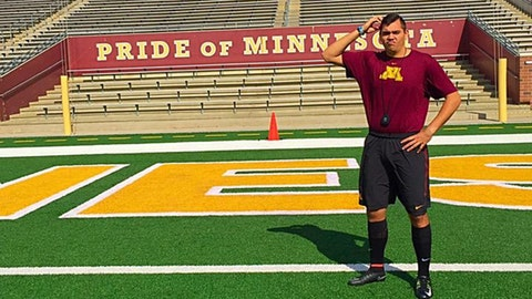 Peter Mortell, Gophers punter