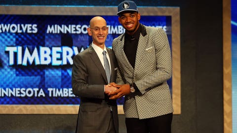 Karl-Anthony Towns draft night