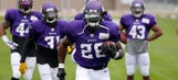Peterson back in pads and moving forward with Vikings