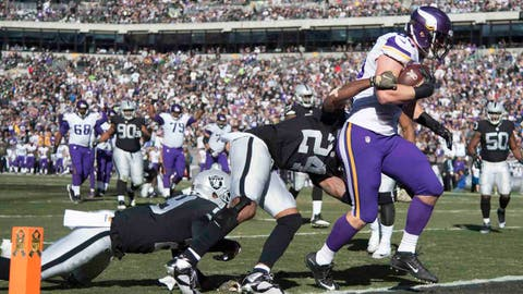 Nov. 15: Vikings 30, Raiders 14