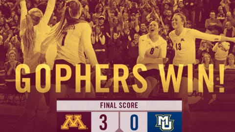 Gophers volleyball official page